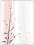 Bamboo in the Asian style drawn by ink. Simple vector of Bamboo in the Asian style drawn by ink in frame(with space for text Stock Illustration
