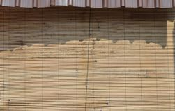 Bamboo awning. Bamboo awning of the house Stock Photo