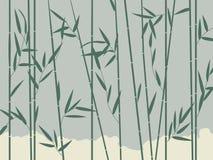 Bamboo background. Background illustration with stylized bamboo leaves Royalty Free Stock Images