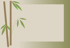 Bamboo Background. Beige over green Royalty Free Stock Image