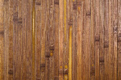 Bamboo background. Close up of dark bamboo mat. natural background Stock Image
