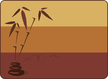 Bamboo background. Vector illustration depicting bamboo and stones for massage Royalty Free Stock Photography