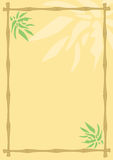 Bamboo background. Abstract background with the frame of bamboo stalks and leaves Vector Illustration