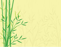 Bamboo Background. Green bamboo on a yellow background. There is a grunge effect in the background. This design is available in a jpg and EPS format. All vector illustration