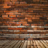 Bamboo background and brick wall. Bamboo background and brickwall Royalty Free Stock Photos