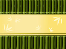 Bamboo background with decorative place for text Royalty Free Stock Image