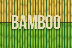Bamboo background set Stock Photography