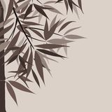 Bamboo background and sun, vector Stock Image