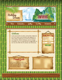 Bamboo Background for Travel Web Site Royalty Free Stock Photo