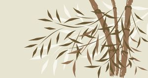 Bamboo background, vector Royalty Free Stock Image