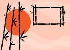 Bamboo background, vector illustration royalty free illustration