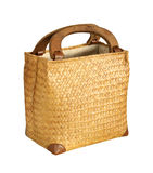 Bamboo bag Stock Images
