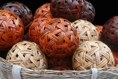 Bamboo ball , Sepaktakraw stock photo