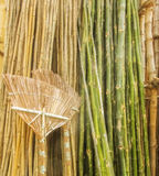 Bamboo and Bamboo products. Stacked Royalty Free Stock Photo