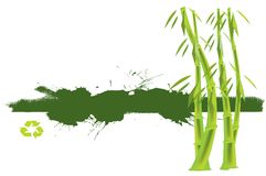 Bamboo banner Royalty Free Stock Photo