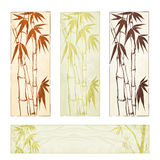 Bamboo banner set Royalty Free Stock Photography
