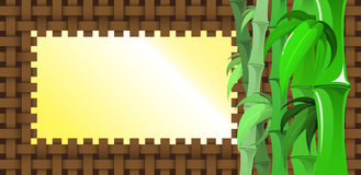 Bamboo Banner Royalty Free Stock Images