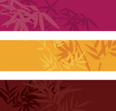 Bamboo banners. Colorful asian bamboo banners with space for text Stock Photo