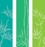 Bamboo banners. Colorful asian bamboo banners with space for text Royalty Free Stock Photography
