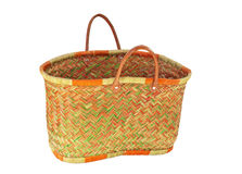 Bamboo basket Stock Images