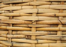 Bamboo Basket, Bamboo weave pattern Stock Photo