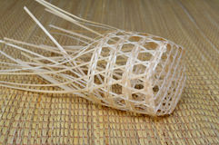 Bamboo basket. Chalom, a kind of handmade round woven bamboo basket Royalty Free Stock Photo