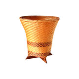 Bamboo basket, handicraft weave texture natural. Royalty Free Stock Images