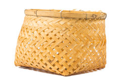 Bamboo basket handmade Stock Images