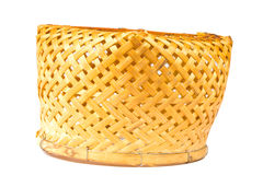 Bamboo basket handmade Royalty Free Stock Images