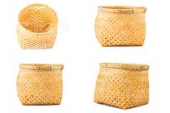Bamboo basket handmade Royalty Free Stock Image