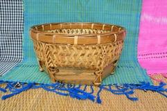 Bamboo basket Royalty Free Stock Image