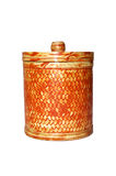 Bamboo basket isolated Royalty Free Stock Photo