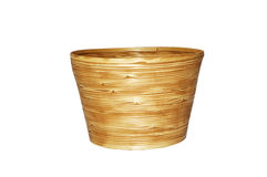 Bamboo basket isolated Royalty Free Stock Photography