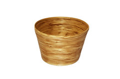 Bamboo basket isolated Royalty Free Stock Images