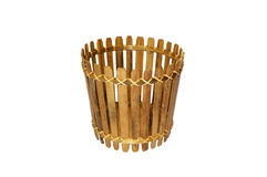 Bamboo basket isolated Stock Images
