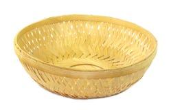 Bamboo basket. On isolated white background stock photography