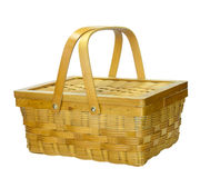 Bamboo basket with lid Royalty Free Stock Image