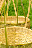 Bamboo basket made by  traditional workmanship Royalty Free Stock Photos
