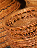 Bamboo basket in market Royalty Free Stock Photos