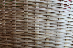 Bamboo basket pattern. Bamboo plaid made into a basket is a folk wisdom stock image