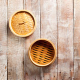 Bamboo Basket Steamer Royalty Free Stock Photos