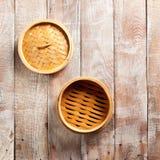 Bamboo Basket Steamer Royalty Free Stock Photos