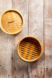 Bamboo Basket Steamer Stock Photography