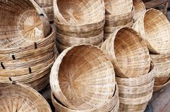 Bamboo basket Stock Image
