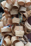 Bamboo basket weave. Thai souvenir gift Stock Photography