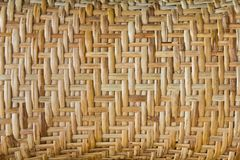 Bamboo basketry. Royalty Free Stock Images