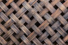 Bamboo basketry weave. Texture background royalty free stock photography