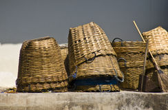 Bamboo baskets Royalty Free Stock Image