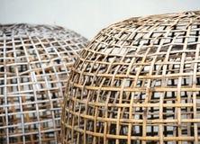 Bamboo baskets Stock Photo