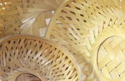 Bamboo baskets background Royalty Free Stock Photo